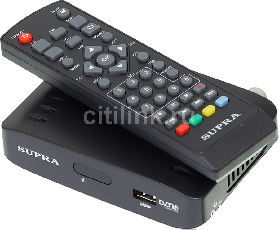 Ресивер DVB-T2 SUPRA SDT-81,  черный
