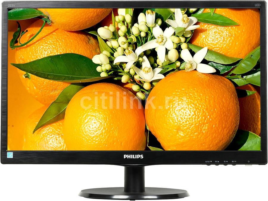 """Монитор Philips 21.5"""" 223V5LHSB2 (00/01) черный TFT LED 5ms 16:9 HDMI Mat 600:1 20 (плохая упаковка)"""