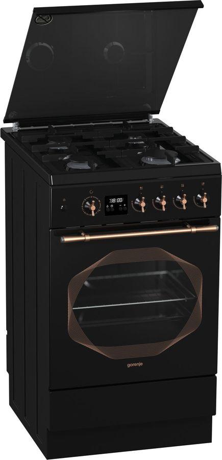 Газовая плита GORENJE GI532INB,  газовая духовка,  черный