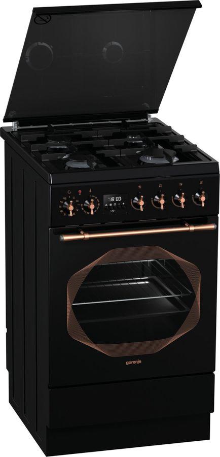Газовая плита GORENJE K537INB,  электрическая духовка,  черный