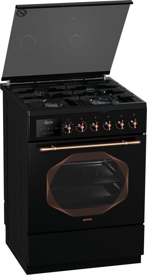 Газовая плита GORENJE K637INB,  электрическая духовка,  черный