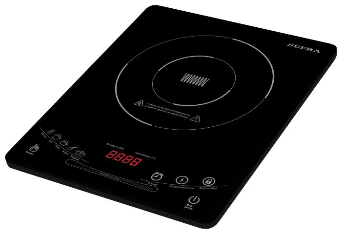 Электрическая плита SUPRA HS-702I,  стеклокерамика,  индукционная,  черный [6833]
