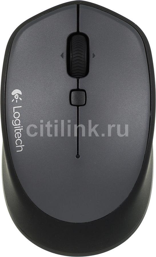 Мышь LOGITECH M335 оптическая беспроводная USB, черный [910-004438]