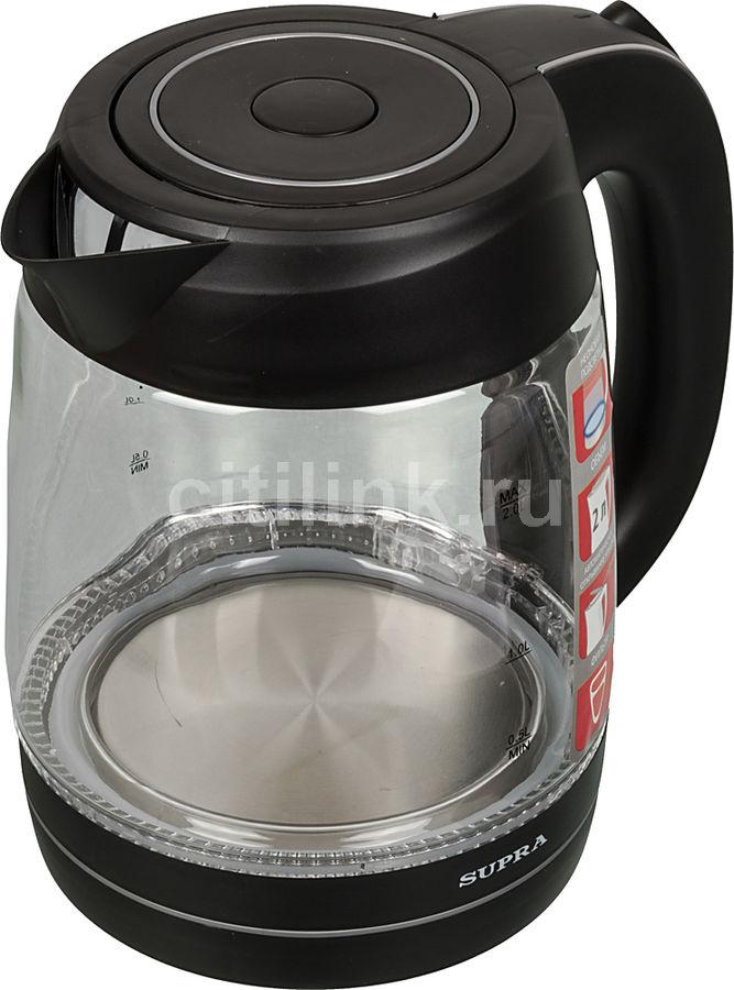 Чайник электрический SUPRA KES-2007, 2200Вт, черный