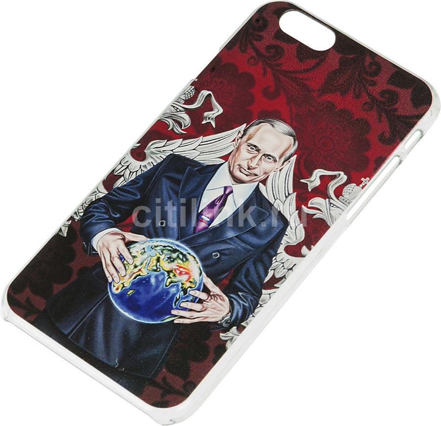 Чехол (клип-кейс) DEPPA Art Case, Person_Путин, для Apple iPhone 6/6S, бордовый [100007]
