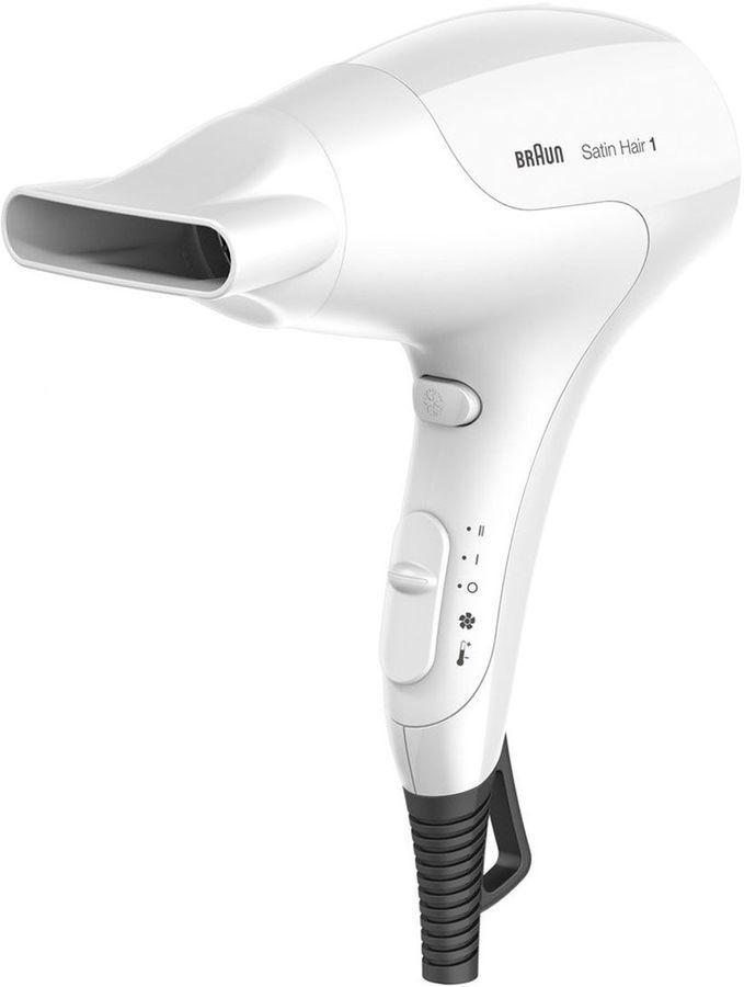 Фен BRAUN HD 180, 1800Вт, белый