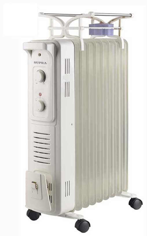Масляный радиатор SUPRA ORS-09F-HD, 2400Вт, белый [ors-09f-hd white]