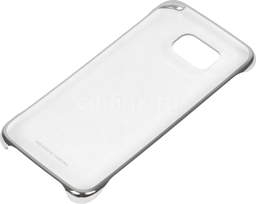 Чехол (клип-кейс) SAMSUNG Clear Cover, для Samsung Galaxy S6 Edge, серебристый [ef-qg925bsegru]