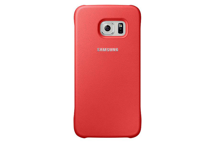 Чехол (клип-кейс) SAMSUNG Protective Cover, для Samsung Galaxy S6, коралловый [ef-yg920bpegru]
