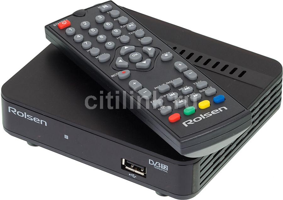 Ресивер DVB-T2 ROLSEN RDB-524B,  черный [1-rldb-rdb-524b]