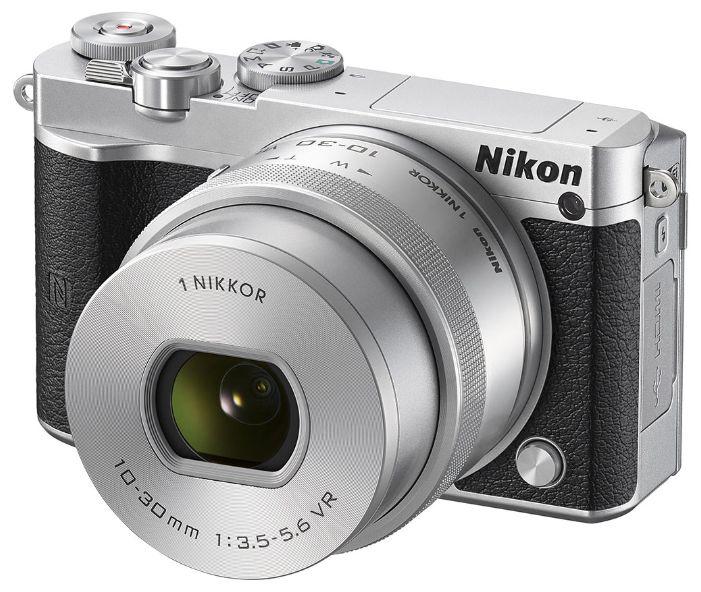 Фотоаппарат NIKON 1 J5 kit ( 1 NIKKOR VR 10-30mm f/3.5-5.6), серебристый/ черный [vva243k001]