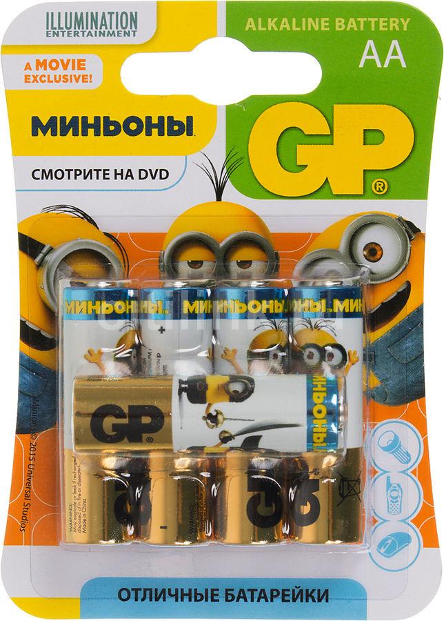 Батарея GP Super Alkaline 15A LR6 Minions,  5 шт. AA