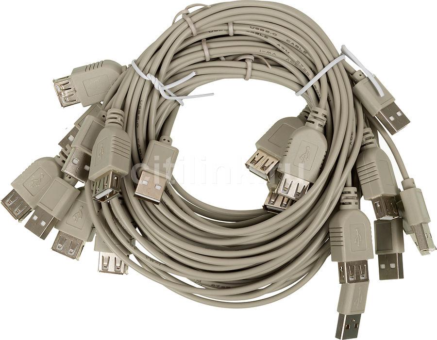 Кабель-удлинитель USB2.0  USB A(m) -  USB A(f),  1.5м,  Bulk,  10шт