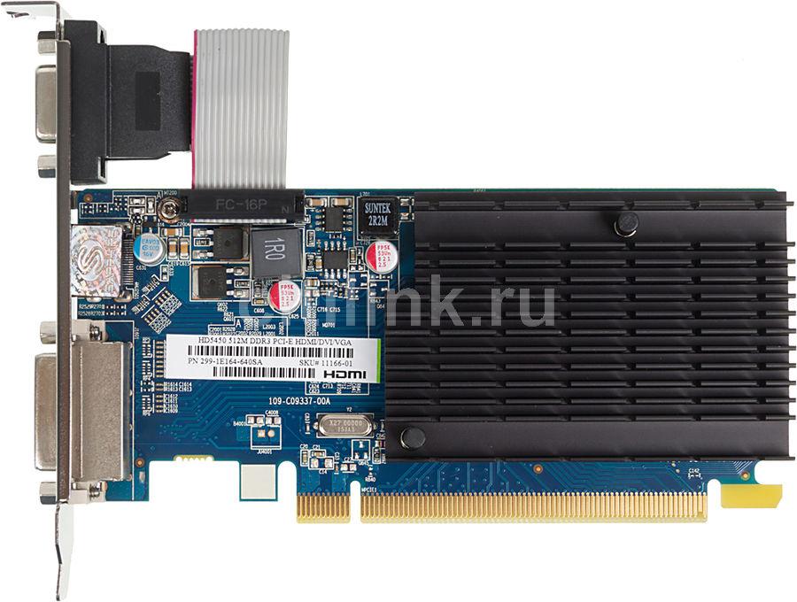 Видеокарта SAPPHIRE Radeon HD 5450,  11166-01-20R,  512Мб, DDR3, Low Profile,  lite