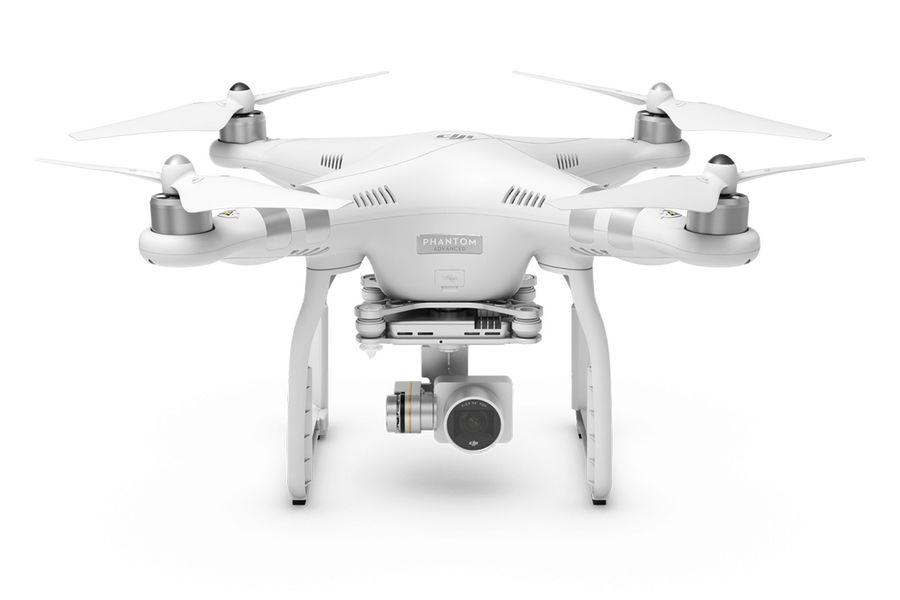 Квадрокоптер DJI Phantom 3 Advanced, с камерой, белый [49486]