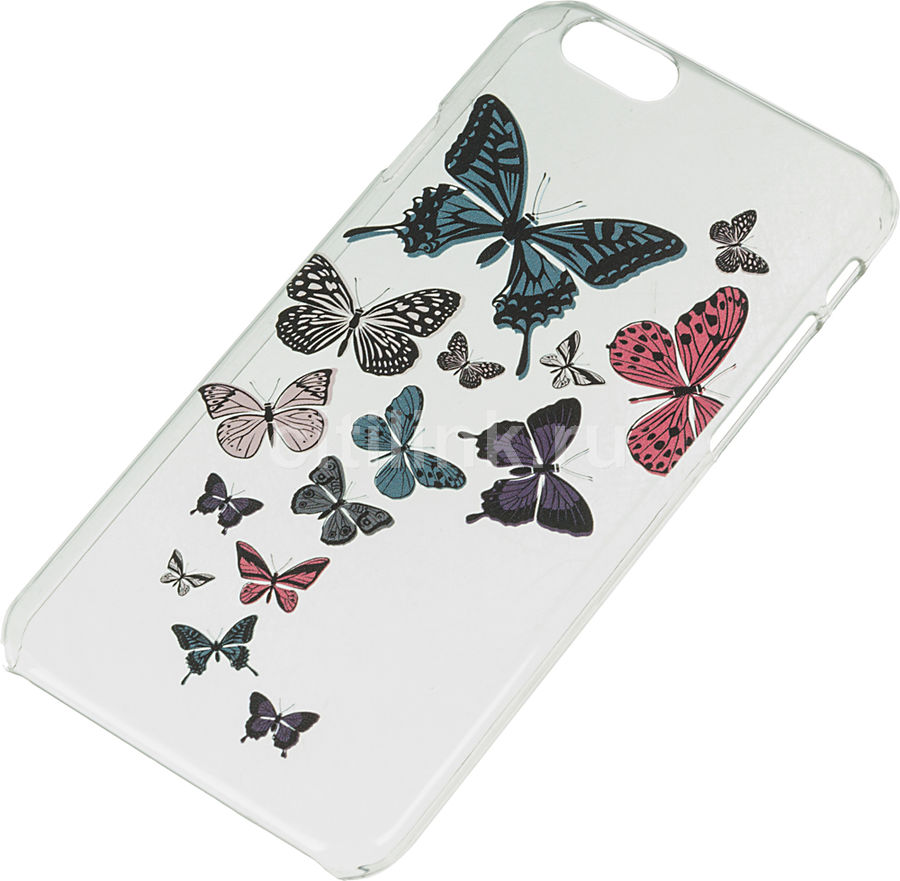 Чехол (клип-кейс) DEPPA Art Case, Military Бабочки, для Apple iPhone 6/6S, прозрачный [100050]