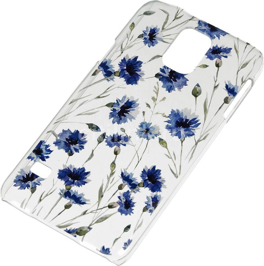 Чехол (клип-кейс) DEPPA Art Case Flowers Василек, для Samsung Galaxy S5, прозрачный [100108]