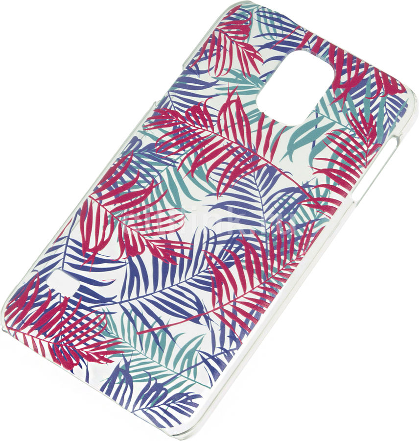 Чехол (клип-кейс) DEPPA Art Case Jungle Пальмы, для Samsung Galaxy S5, прозрачный [100160]