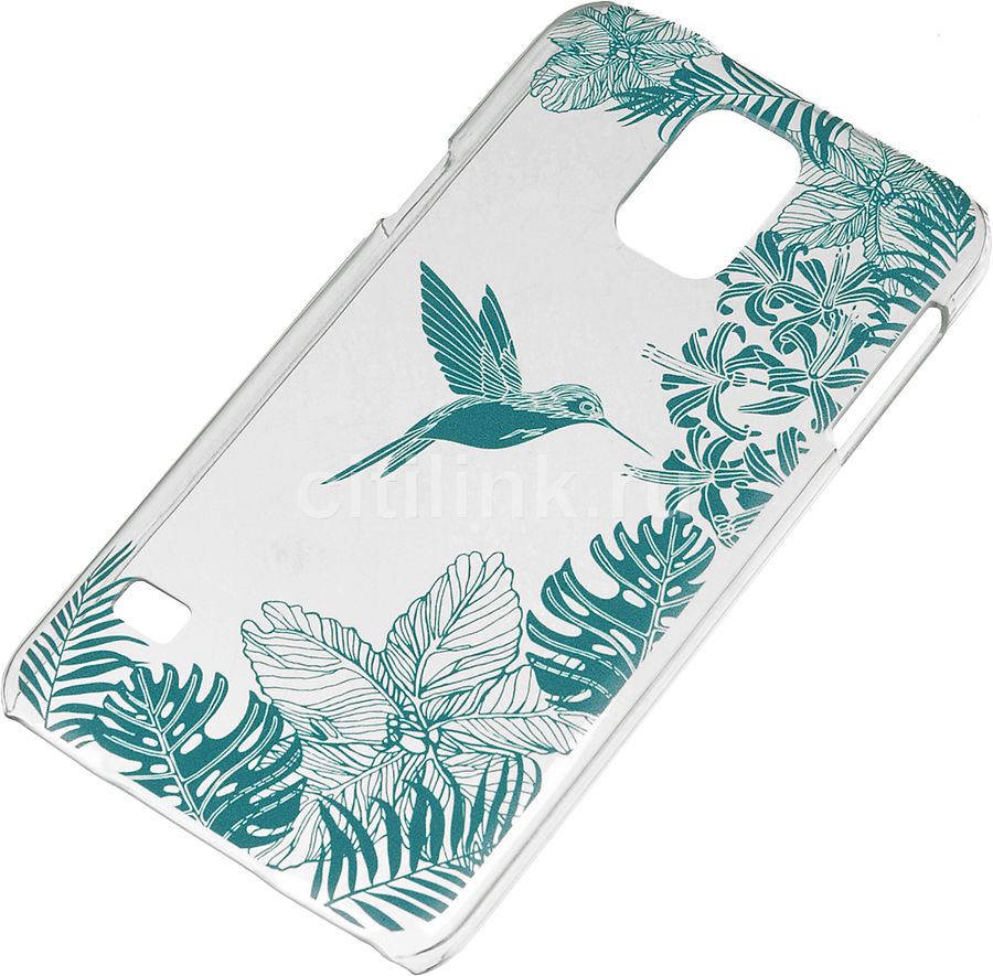 Чехол (клип-кейс) DEPPA Art Case Jungle Колибри, для Samsung Galaxy S5, прозрачный [100161]
