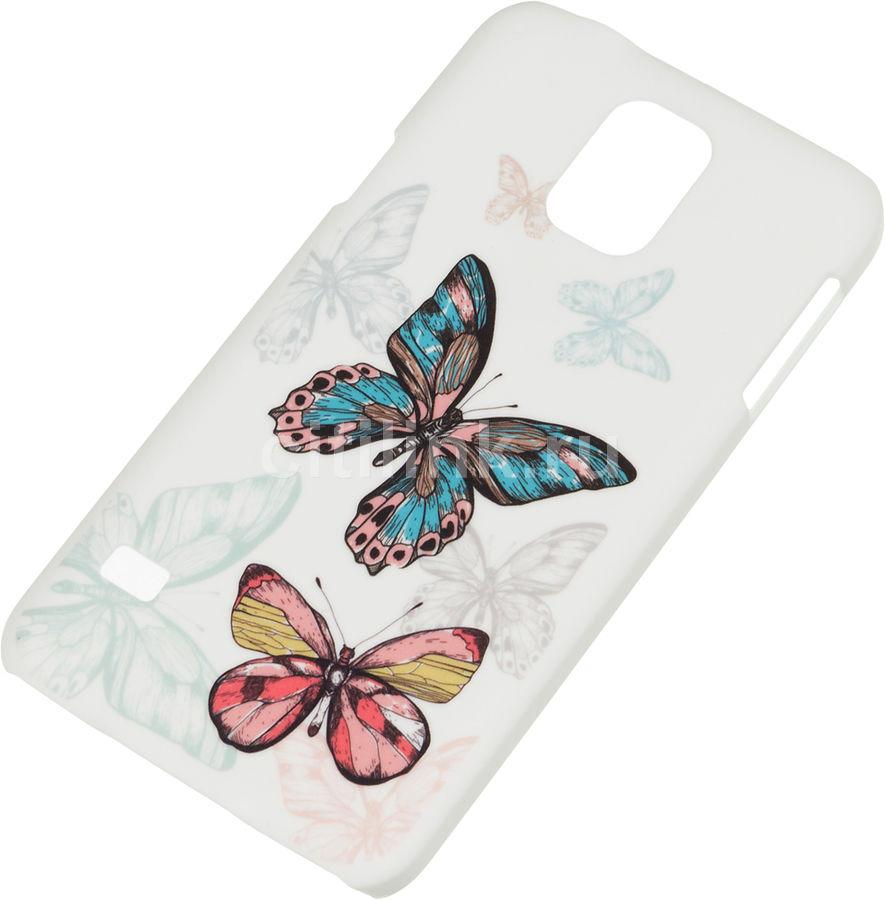 Чехол (клип-кейс) DEPPA Art Case Pastel Бабочки, для Samsung Galaxy S5, белый [100212]