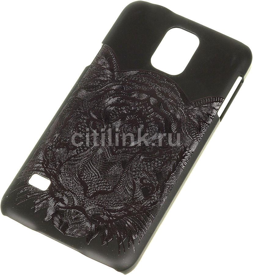 Чехол (клип-кейс) DEPPA Art Case, Black Тигр, для Samsung Galaxy S5, черный [100266]