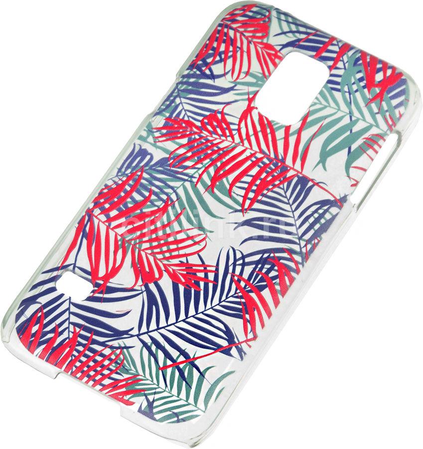 Чехол (клип-кейс) DEPPA Art Case Jungle Пальмы, для Samsung Galaxy S5 mini, прозрачный [100164]