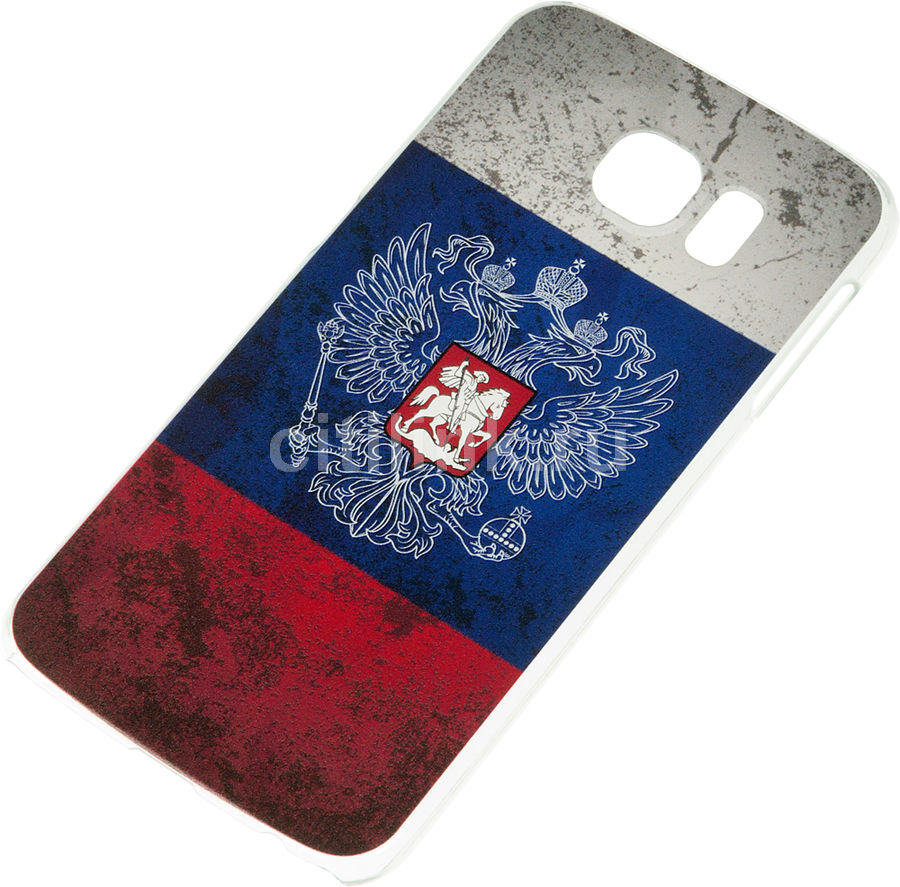 Чехол (клип-кейс) DEPPA Art Case, Патриот Флаг, для Samsung Galaxy S6, синий [100327]