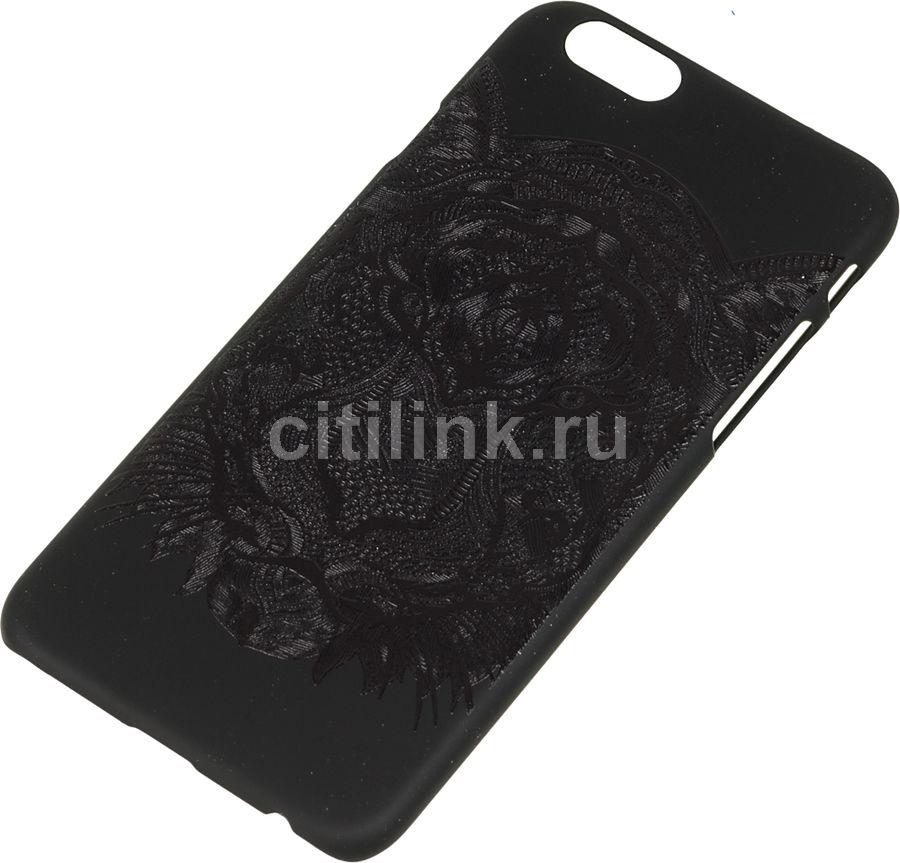 Чехол (клип-кейс) DEPPA Art Case, Black Тигр, для Apple iPhone 6/6S, черный [100258]