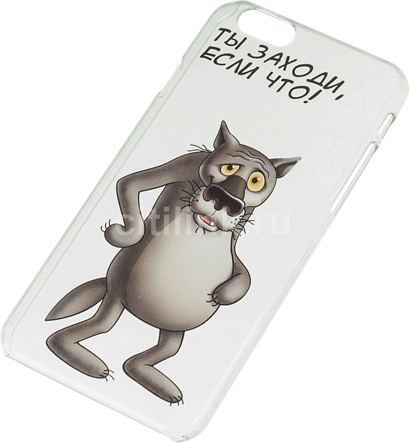 Чехол (клип-кейс) DEPPA Art Case Союзмультфильм Волк, для Apple iPhone 6/6S, прозрачный [100573]