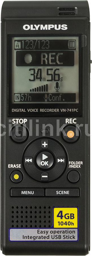 Диктофон OLYMPUS VN-741PC 4 Gb,  черный