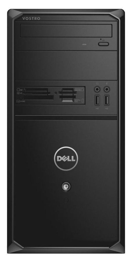 Компьютер  DELL Vostro 3900,  Intel  Pentium  G3260,  DDR3 4Гб, 500Гб,  Intel HD Graphics,  DVD-RW,  CR,  Linux,  черный [3900-7481]