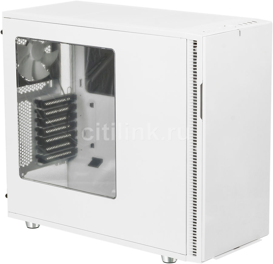 Корпус ATX FRACTAL DESIGN Define R5 Window, Midi-Tower, без БП,  белый