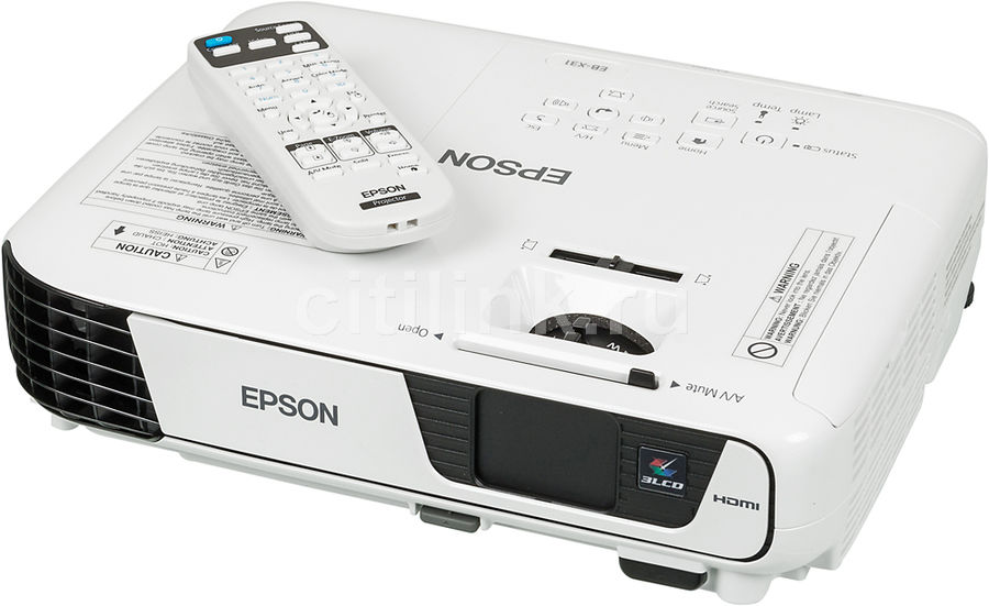 Проектор EPSON EB-X31 белый [v11h72004]