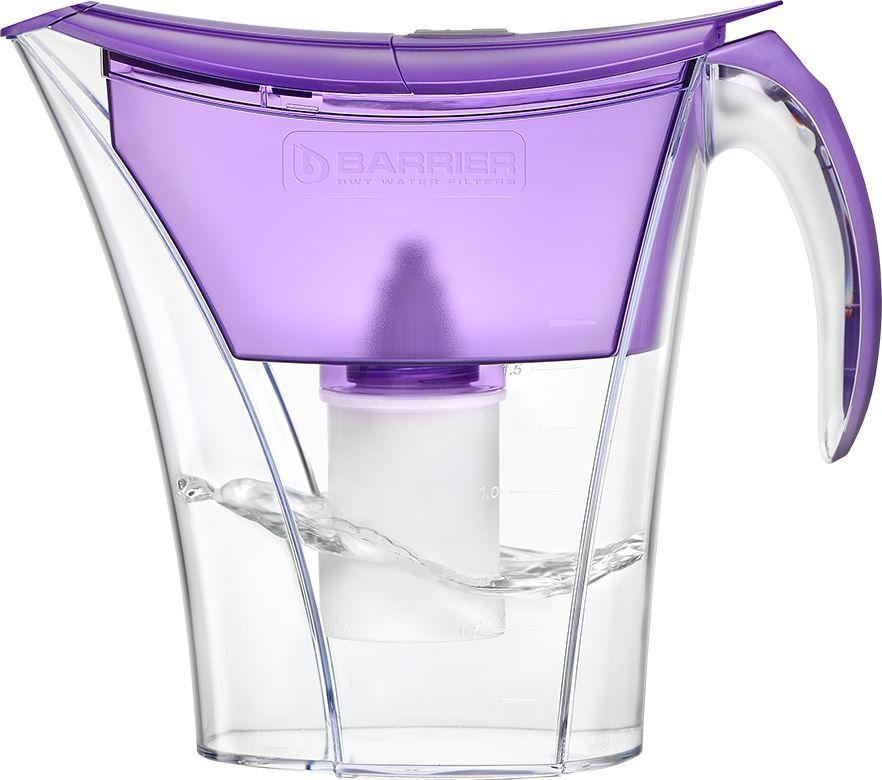 Фильтр для воды БАРЬЕР Смарт,  фиолетовый,  3.35л [в07кр00]