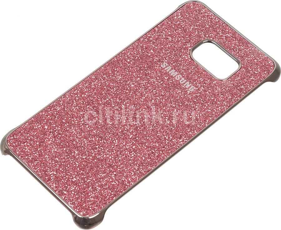 Чехол (клип-кейс) SAMSUNG Glitter Cover G928, для Samsung Galaxy S6 Edge Plus, розовый [ef-xg928cpegru]