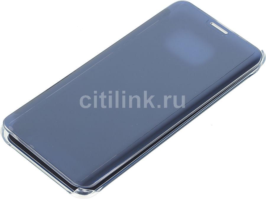 Чехол (флип-кейс) SAMSUNG Clear View Cover G928, для Samsung Galaxy S6 Edge Plus, темно-синий [ef-zg928cbegru]