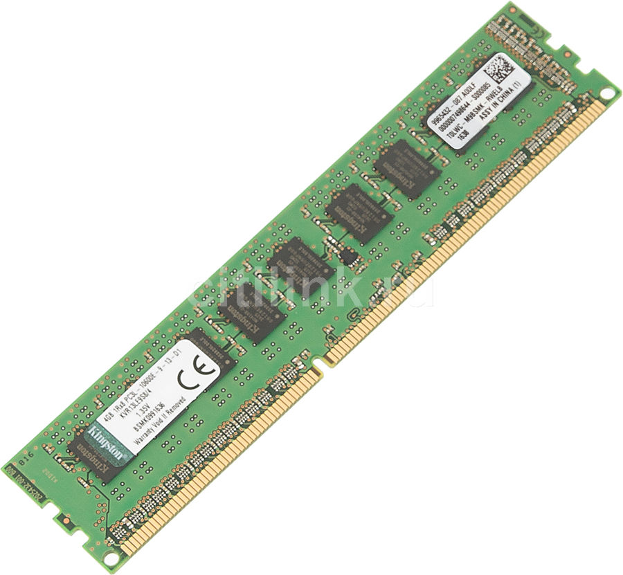 Память DDR3L Kingston KVR13LE9S8/4 4Gb DIMM ECC U PC3-10600 CL9 1333MHz