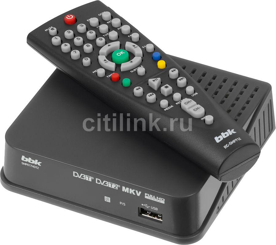 Ресивер DVB-T2 BBK SMP017HDT2,  темно-серый