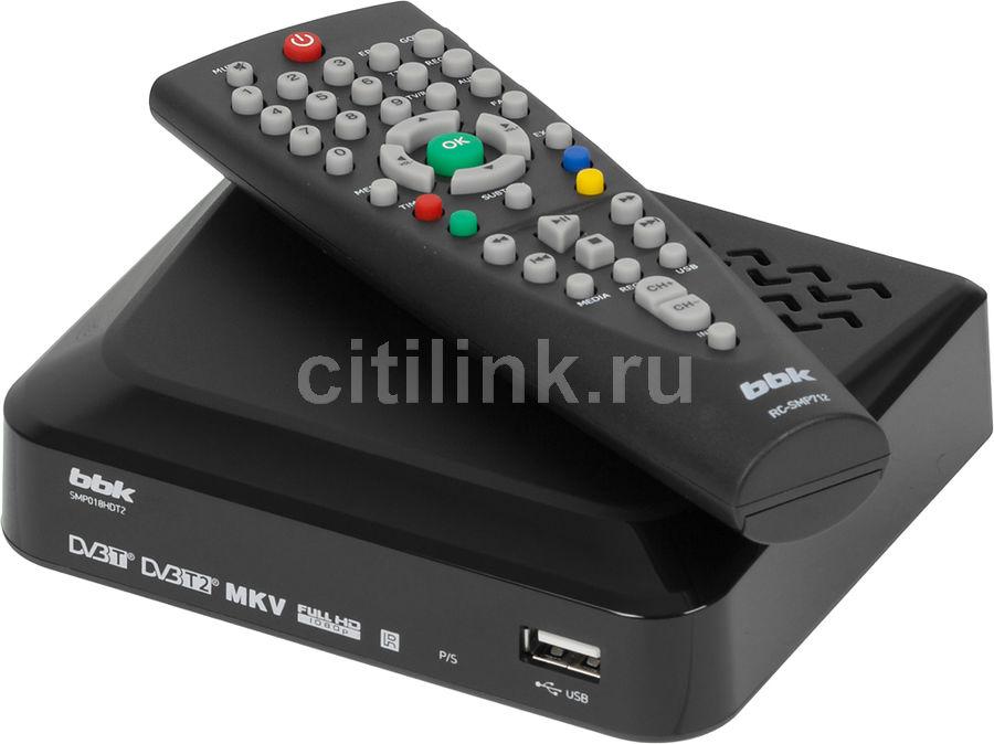 Ресивер DVB-T2 BBK SMP018HDT2,  черный