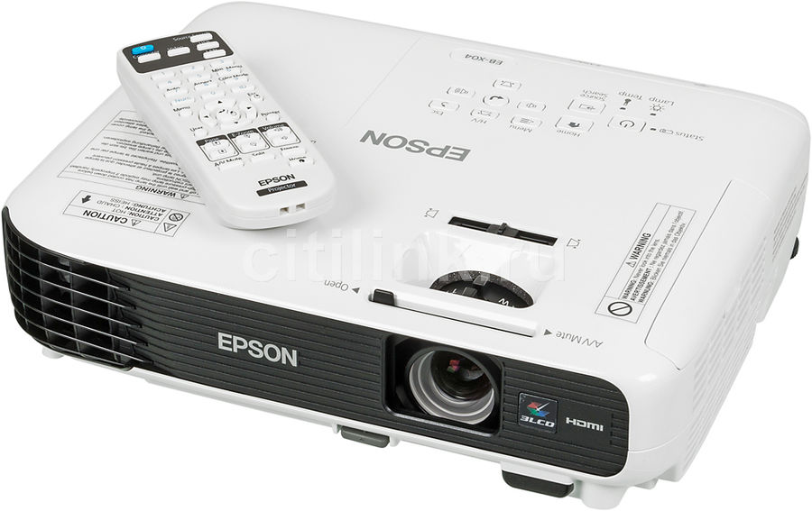 Проектор EPSON EB-X04 черный [v11h717040]