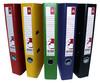 Папка-регистратор Бюрократ -BRT50PVC/PAPYEL A4 50мм ПВХ/бумага желтый мет.окант. смен.карм. на кор. вид 5