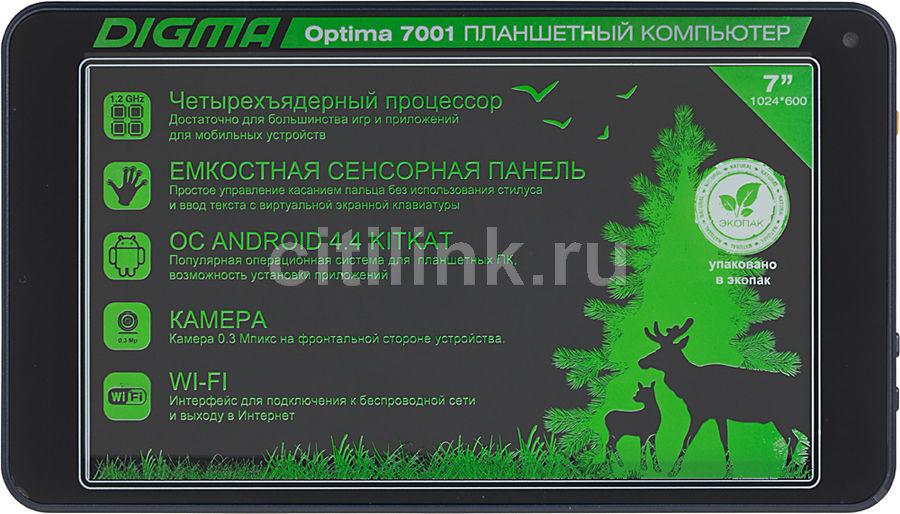 Планшет DIGMA Optima 7001,  512Мб, 8GB, Android 4.4 темно-синий [tt7001aw]
