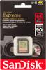 Карта памяти SDXC UHS-I SANDISK Extreme 64 ГБ, Class 10, SDSDXNE-064G-GNCIN,  1 шт. вид 1