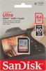 Карта памяти SDXC UHS-I SANDISK Ultra 80 64 ГБ, 80 МБ/с, Class 10, SDSDUNC-064G-GN6IN,  1 шт. вид 1