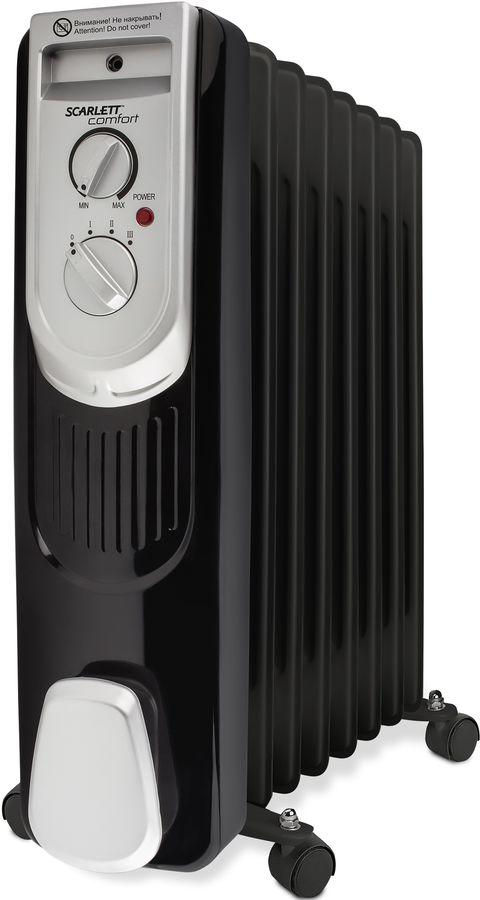 Масляный радиатор SCARLETT SC-OH67B03-7, 1500Вт, черный [sc - oh67b03-7]