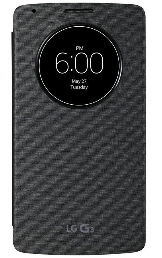 Чехол с функцией беспроводной зарядки LG Quick Circle, для LG G3, черный [ccf-340g.ageutb]