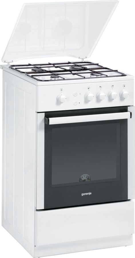 Газовая плита GORENJE GN51103AW,  газовая духовка,  белый
