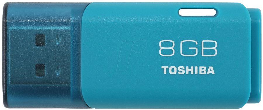 Флешка USB TOSHIBA Hayabusa U202 8Гб, USB2.0, голубой [thn-u202l0080e4]