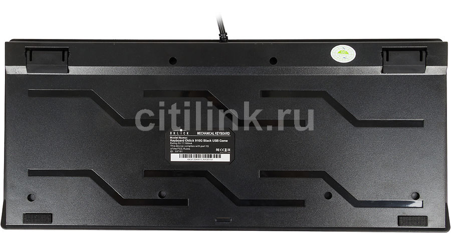Клавиатура Oklick 910G V2 IRON EDGE черный USB Multimedia Gamer