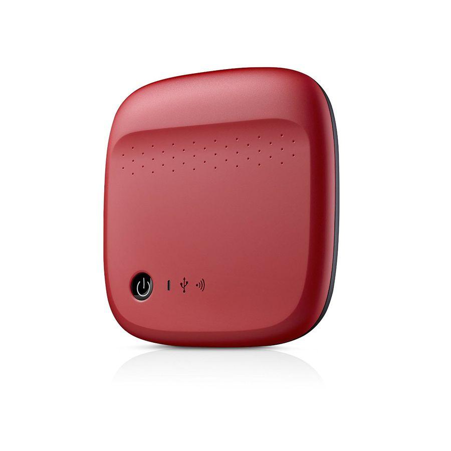 Внешний жесткий диск SEAGATE Wireless STDC500402, 500Гб, красный